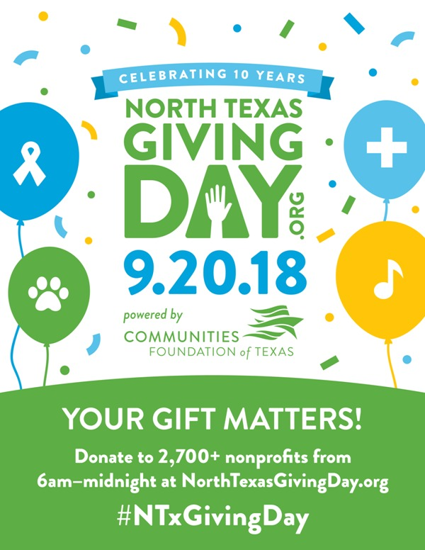 North Texas Giving Day Poster
