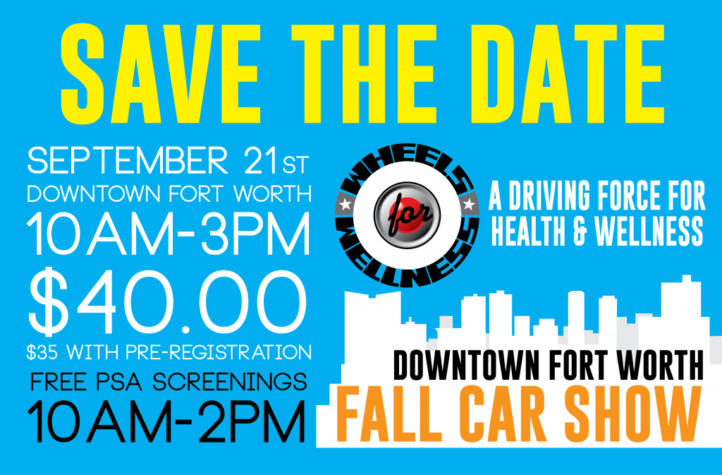 SAVE THE DATE - September 21st Car Show in Downtown Fort Worth