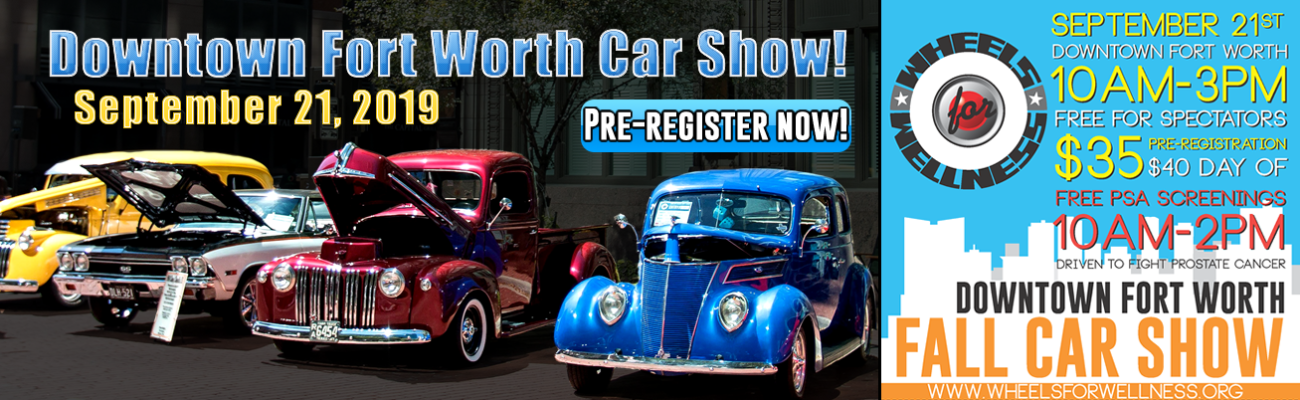 2019 Downtown Fort Worth Car Show banner